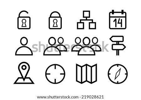 internet icons for your designs and presentations - stock vector