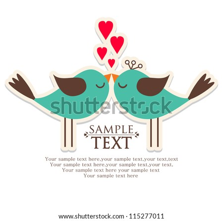 Invitation card for wedding - stock vector