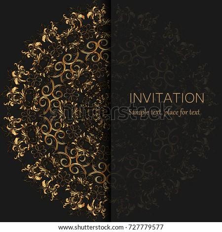 Invitation template modern design wedding invitation stock vector invitation template modern design wedding invitation or card with abstract background stopboris Images