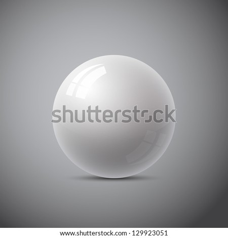 isolated gray sphere, abstracts - stock vector