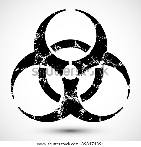 Isolated Vector Illustration Biohazard Symbol Icon Stock Vector
