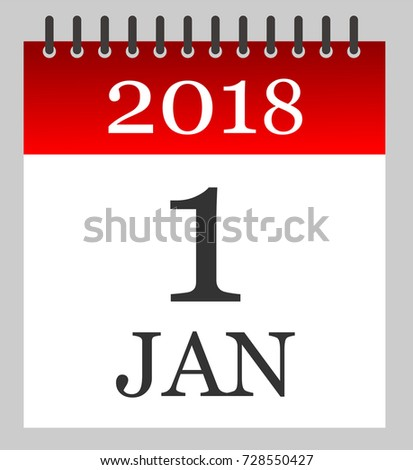 Jan  Daily Calendar Illustration Stock Vector