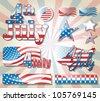 4 July symbol set eps10 - stock vector