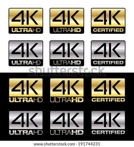 4K UltraHd - stock vector