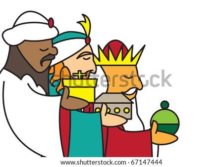 3 kings profile - stock vector