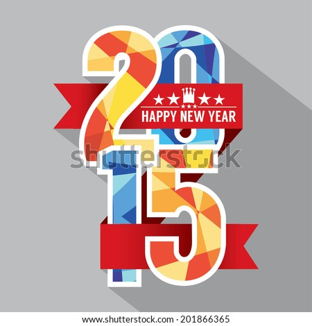 2015 Label Badge Vector Illustration - stock vector