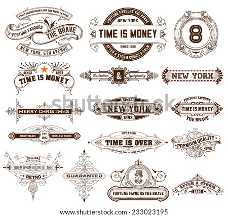 16 Labels and banners. Vector - stock vector