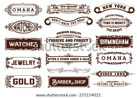 17 Labels and banners. Vector - stock vector
