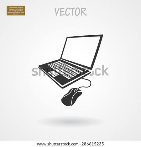 laptop mouse icon. Vector  Eps 10  - stock vector