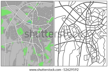 Layered Vector Map Of Ankara. - stock vector
