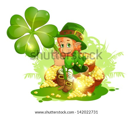 leprechaun - stock vector