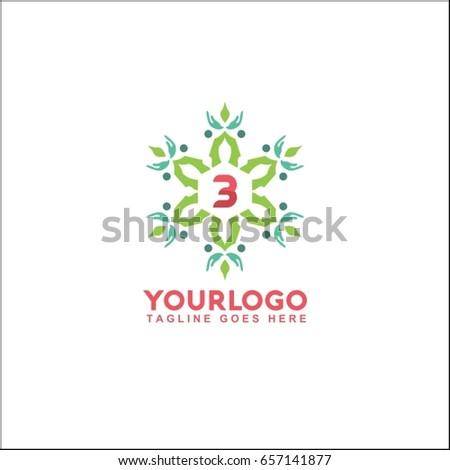 3 Letter Trendy Elegant Logo Design Stock Vector 657141877