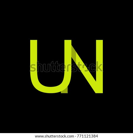 Letter un logo design template stock photo photo vector letter un logo design template spiritdancerdesigns Image collections