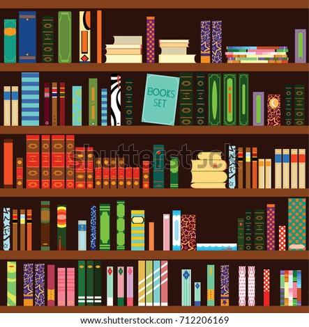 Bookshelf Background Stock Images Royalty Free Images Amp Vectors Shutterstock