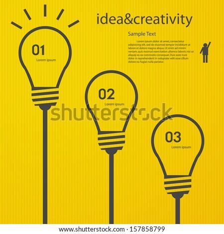1 2 3 Light bulb vector icon - stock vector