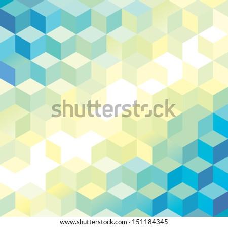 light cube pattern - stock vector