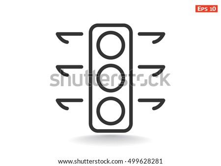 Lights  icon vector.