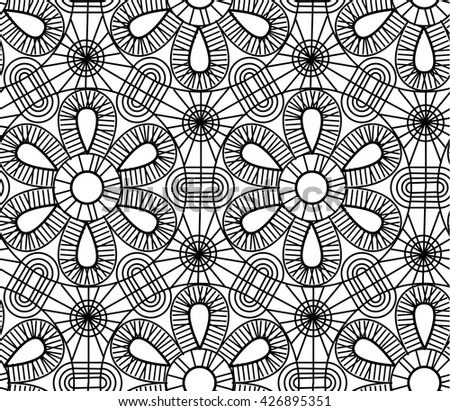line geometry seamless pattern. vector illustration of lace fabric