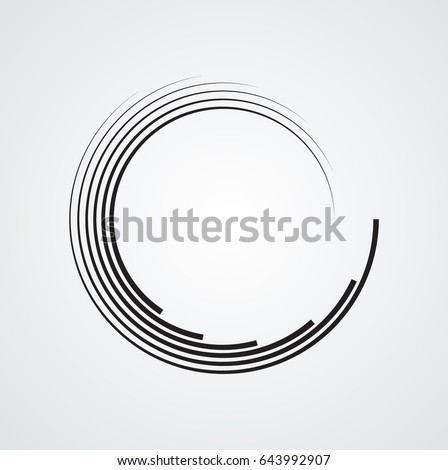 Lines Circle Form Spiral Vector Illustration Stock Vector ...