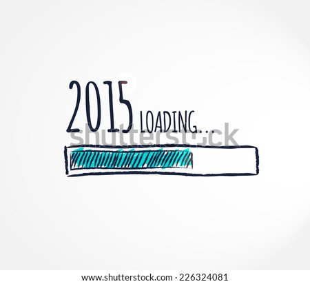 2015 loading. Progress bar design. Vector illustration.  - stock vector