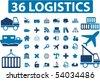 36 logistics. vector - stock vector