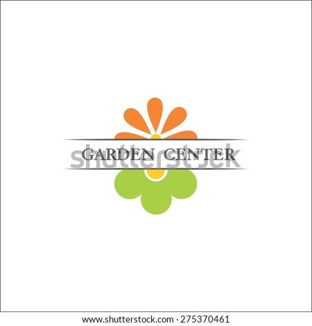 logo for Garden center - stock vector