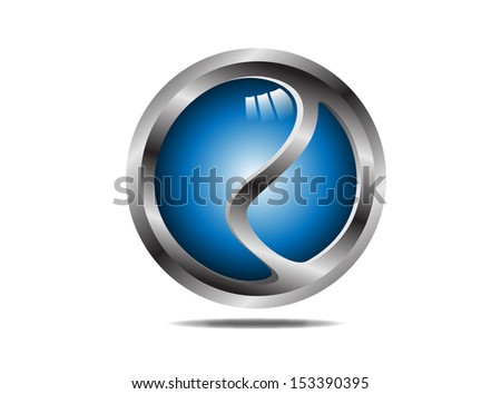 logo  Hi-tech blue sphere. Vector. Editable.  - stock vector