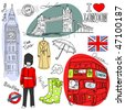 London doodles - stock vector