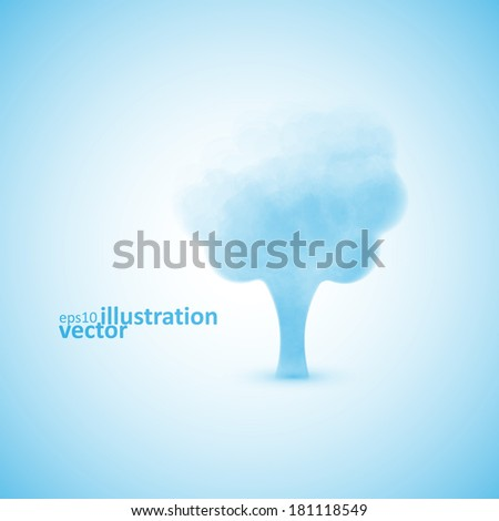 ?loud in the form of a tree, creative vector illustration eps10 - stock vector