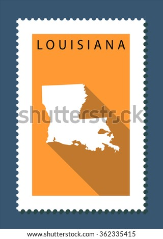 Louisiana Map, US State - stock vector