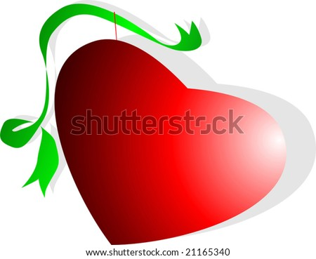 love shade with green ribbon - stock vector