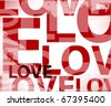 love  shape pattern in vector - stock vector