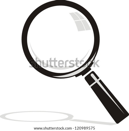 Magnifying glass on background - stock vector