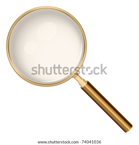 Magnifying glass realistic illustration - stock vector