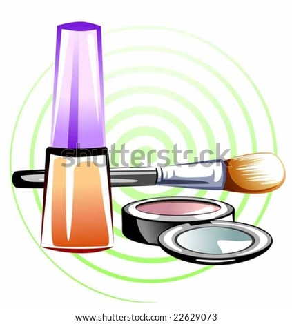 make up products with colour design
