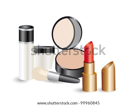 Makeup products.Vector.