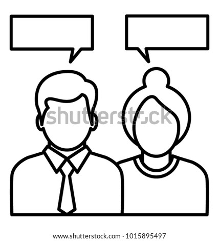 man woman avatars chat bubbles concept stock vector royalty free