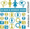 20 man & woman signs. vector - stock photo