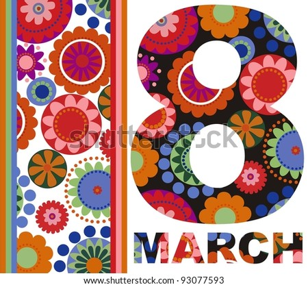 8 march International Women's Day - stock vector