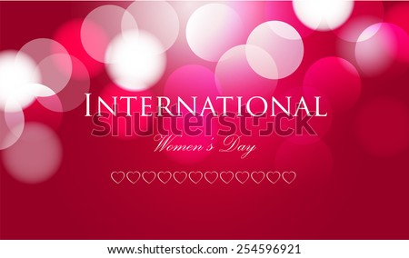 8 march women day card colorful background. - stock vector