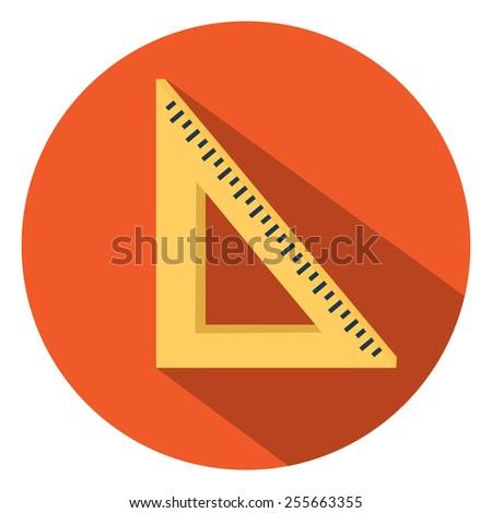 math triangle ruler  icon - stock vector
