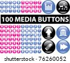 100 media buttons, signs, icons, vector illustrations - stock vector