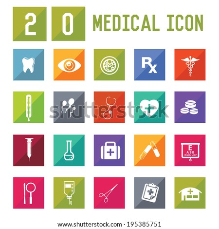Medical Icon set on white background,vector - stock vector