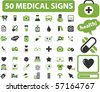 50 medical signs. vector - stock photo