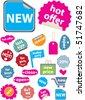 20 mega colorful shopping stickers. vector - stock vector
