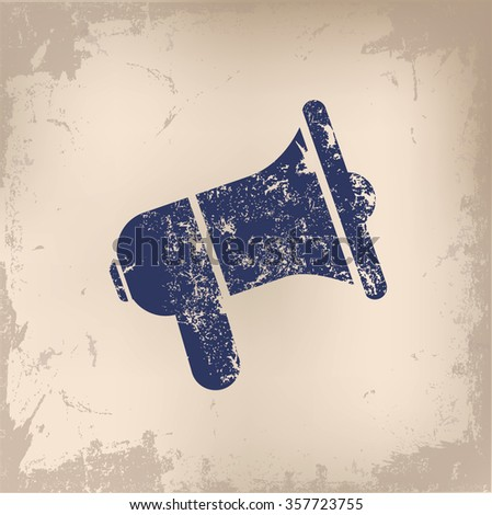 Megaphone design on old paper background,vector - stock vector