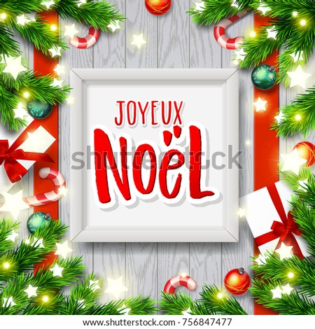 Merry christmas greeting card greetings french stock vector royalty merry christmas greeting card with greetings in french language xmas vector background hand drawn m4hsunfo