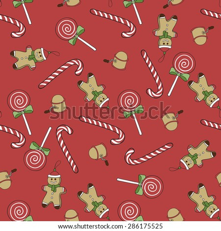 """Merry Christmas"", seamless pattern. Seamless background. Winter background - stock vector"