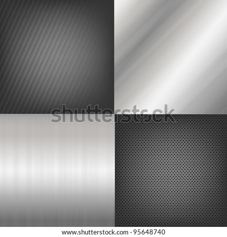 4 metal texture backgrounds vector background 4 metal texture backgrounds vector background voltagebd Choice Image