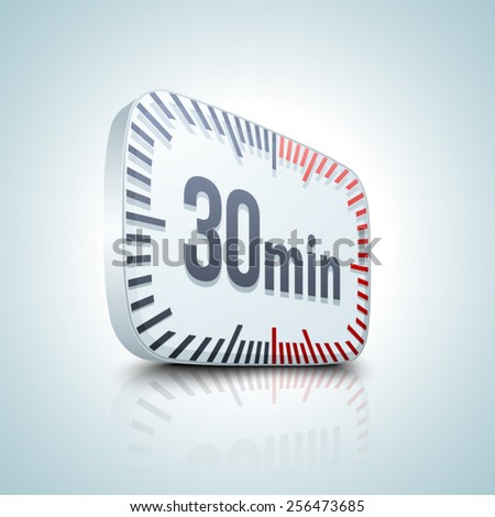 30 min. Timer - stock vector
